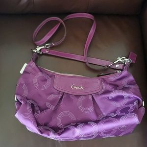 New Purple Shoulder Coach Purse